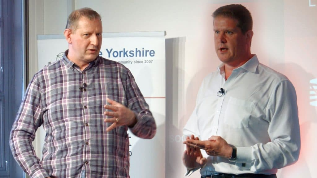 Sean Craig and Chris Cheadle at Agile Yorkshire